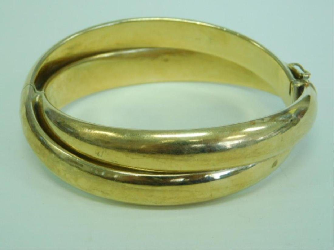18k Hinged Bangle Bracelet