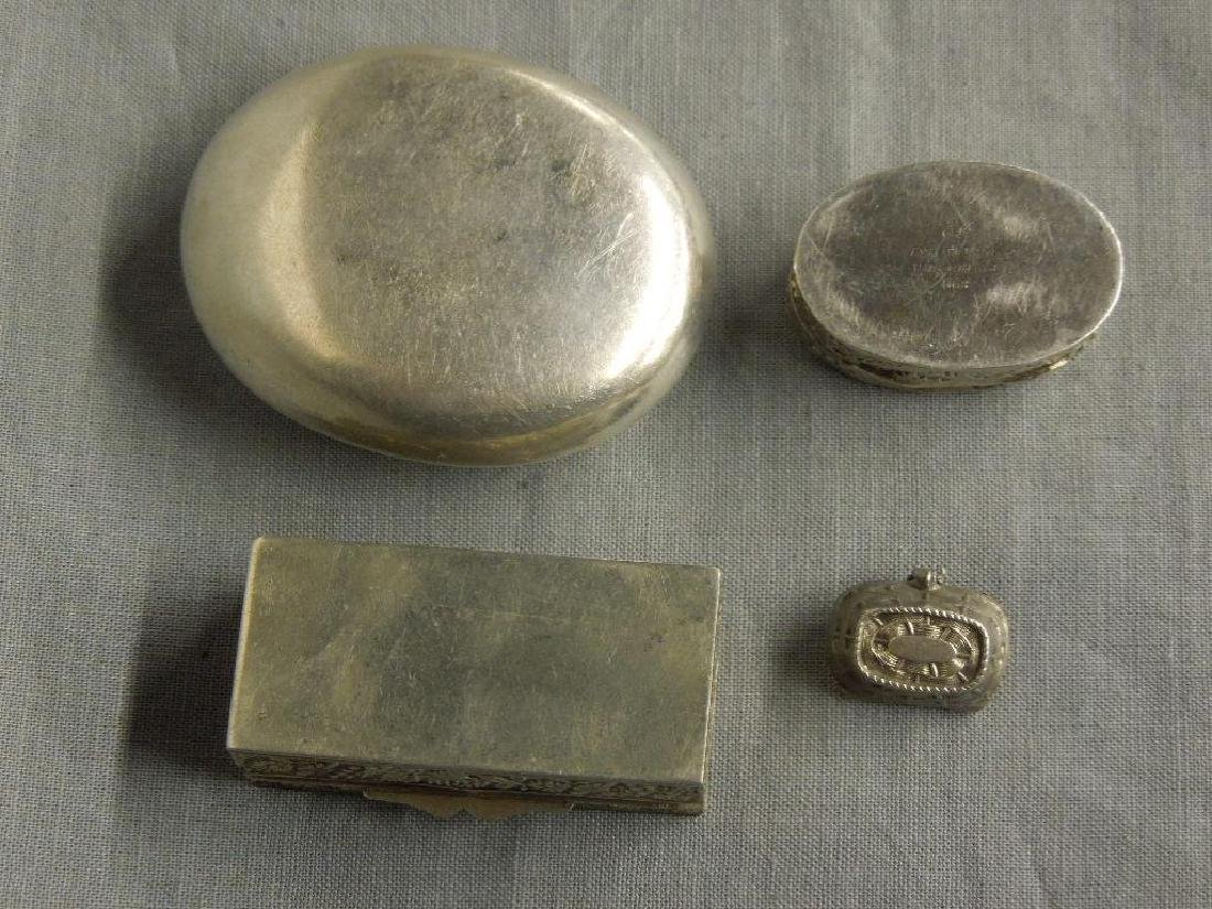 4 Continental Silver Pill Boxes - 2