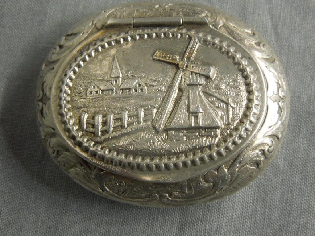 4 Continental Silver Pill Boxes - 4