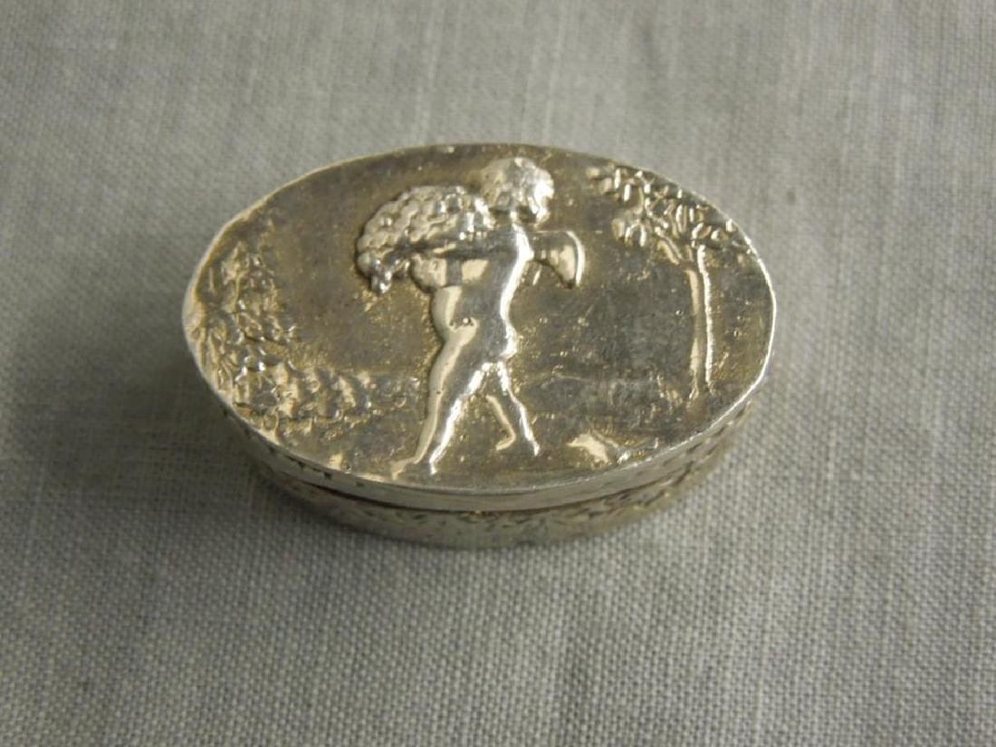 4 Continental Silver Pill Boxes - 5