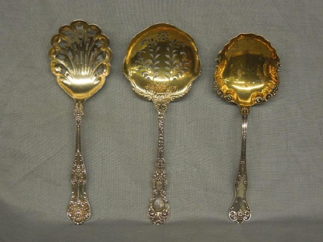 3 Sterling Serving Spoons