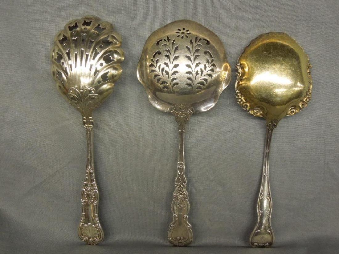 3 Sterling Serving Spoons - 2