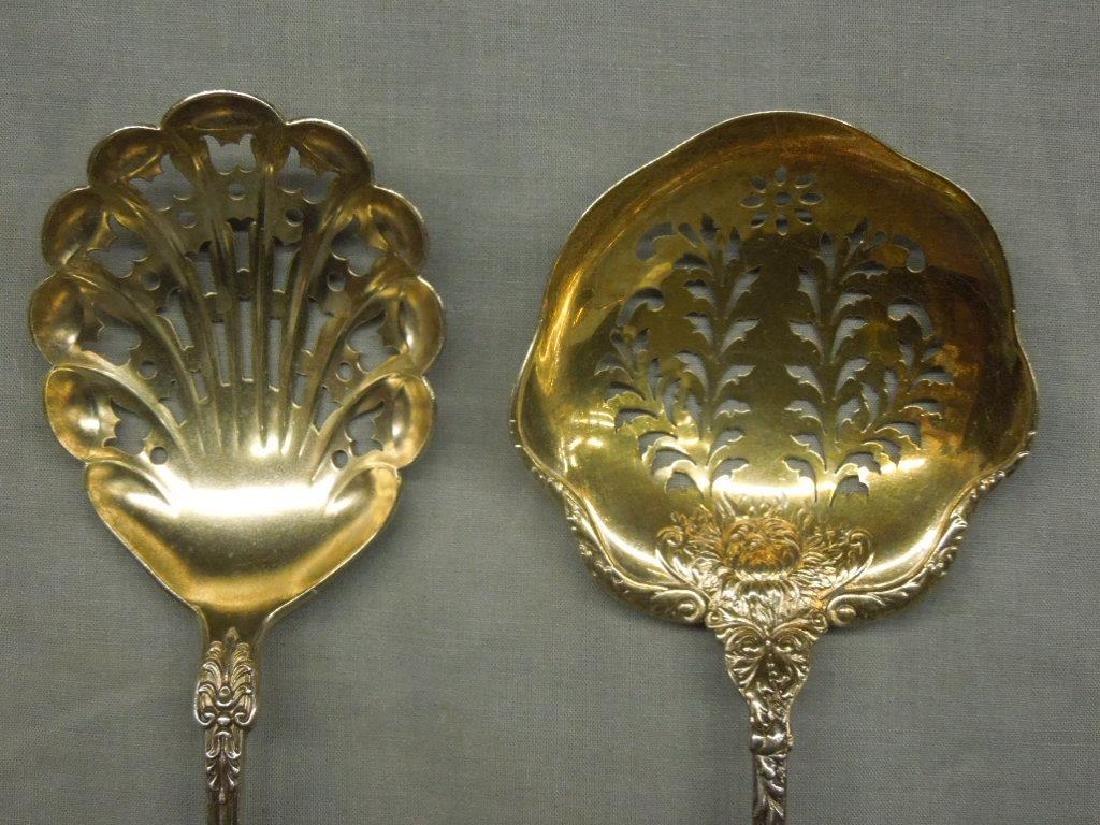 3 Sterling Serving Spoons - 3