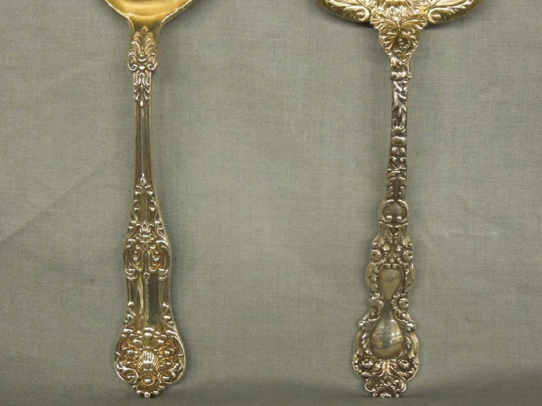3 Sterling Serving Spoons - 4