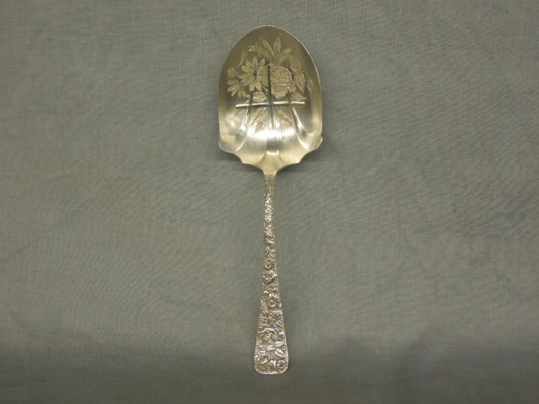 Sterling Repousse Serving Spoon