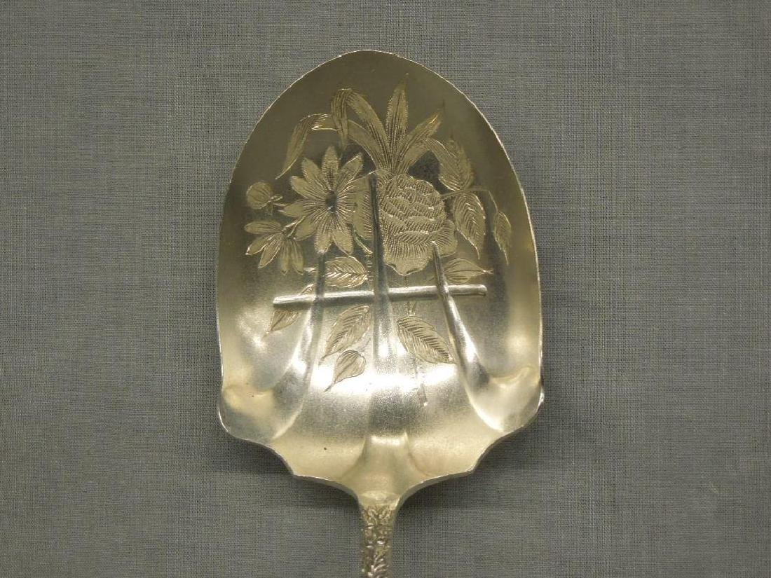 Sterling Repousse Serving Spoon - 2