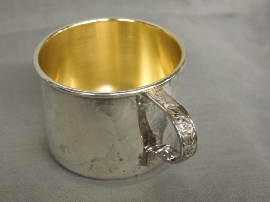 Silver Vase & 2 Child's Cups - 5