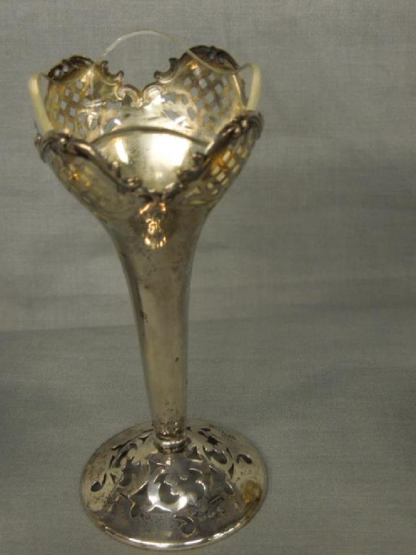 Silver Vase & 2 Child's Cups - 6