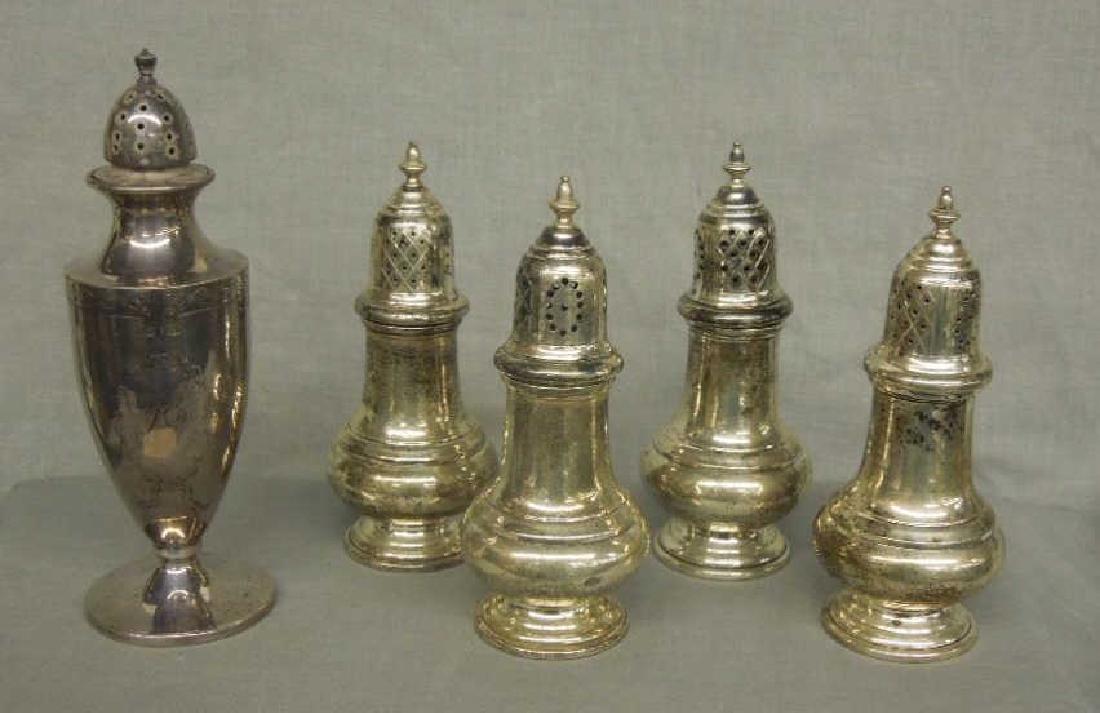 5 Sterling Salt Shakers