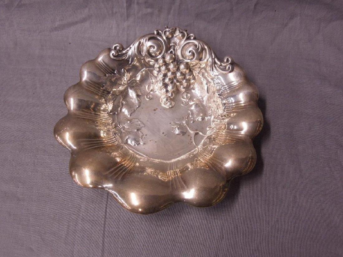 Art Nouveau Sterling Grape Bowl