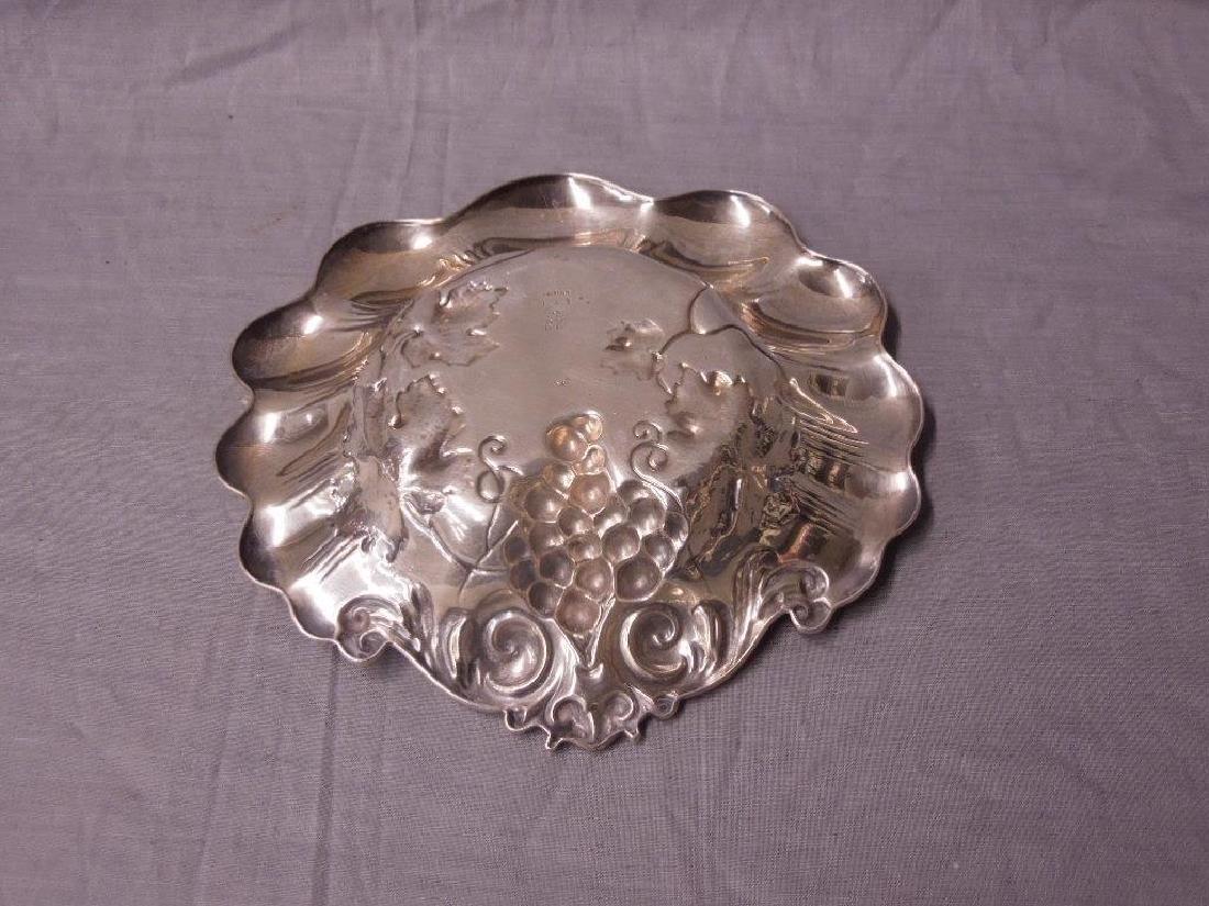 Art Nouveau Sterling Grape Bowl - 2