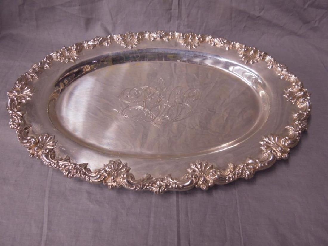 Fancy Sterling Oval Platter