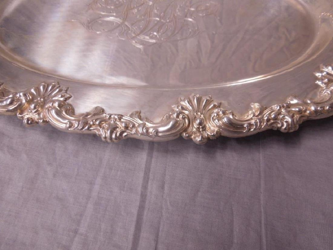 Fancy Sterling Oval Platter - 2