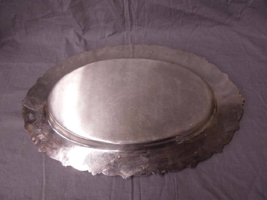 Fancy Sterling Oval Platter - 4