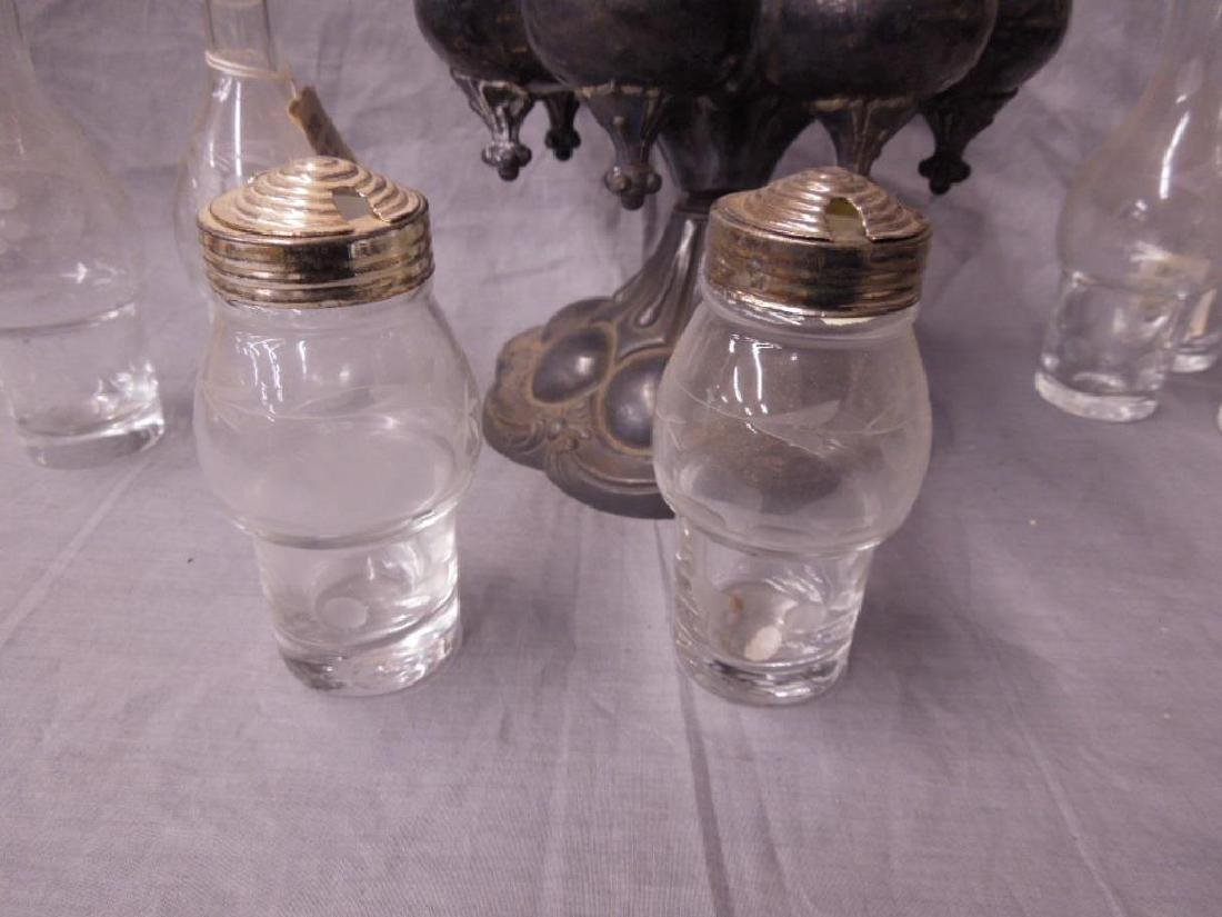 Victorian Silver Plate Caster Set - 4