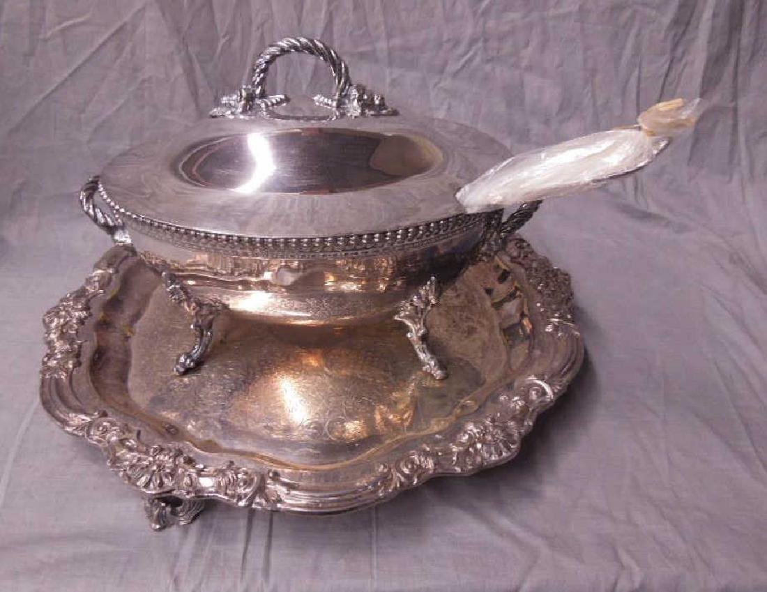 Silver Plate Tray & Soup Tureen
