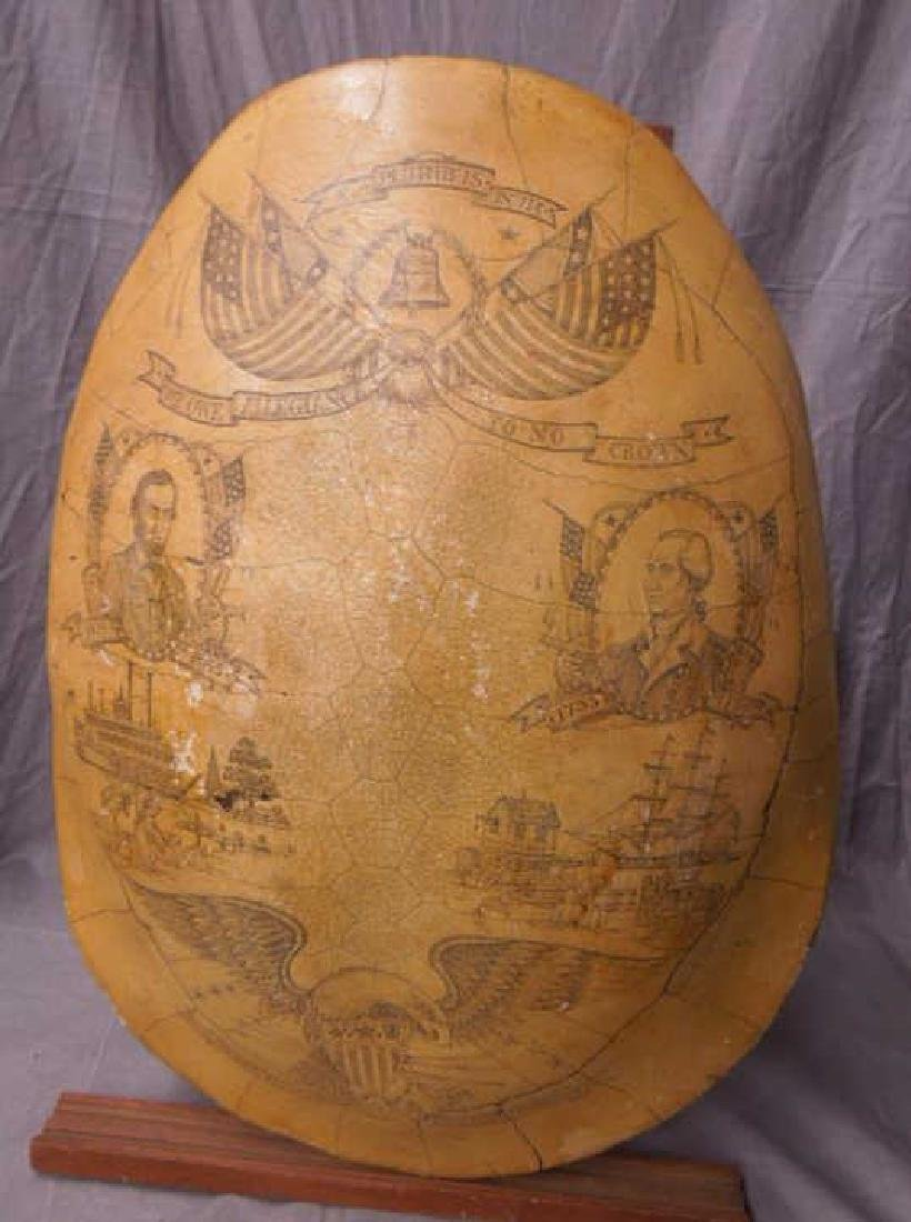 American Style Scrimshaw Composite Tortoise Shell