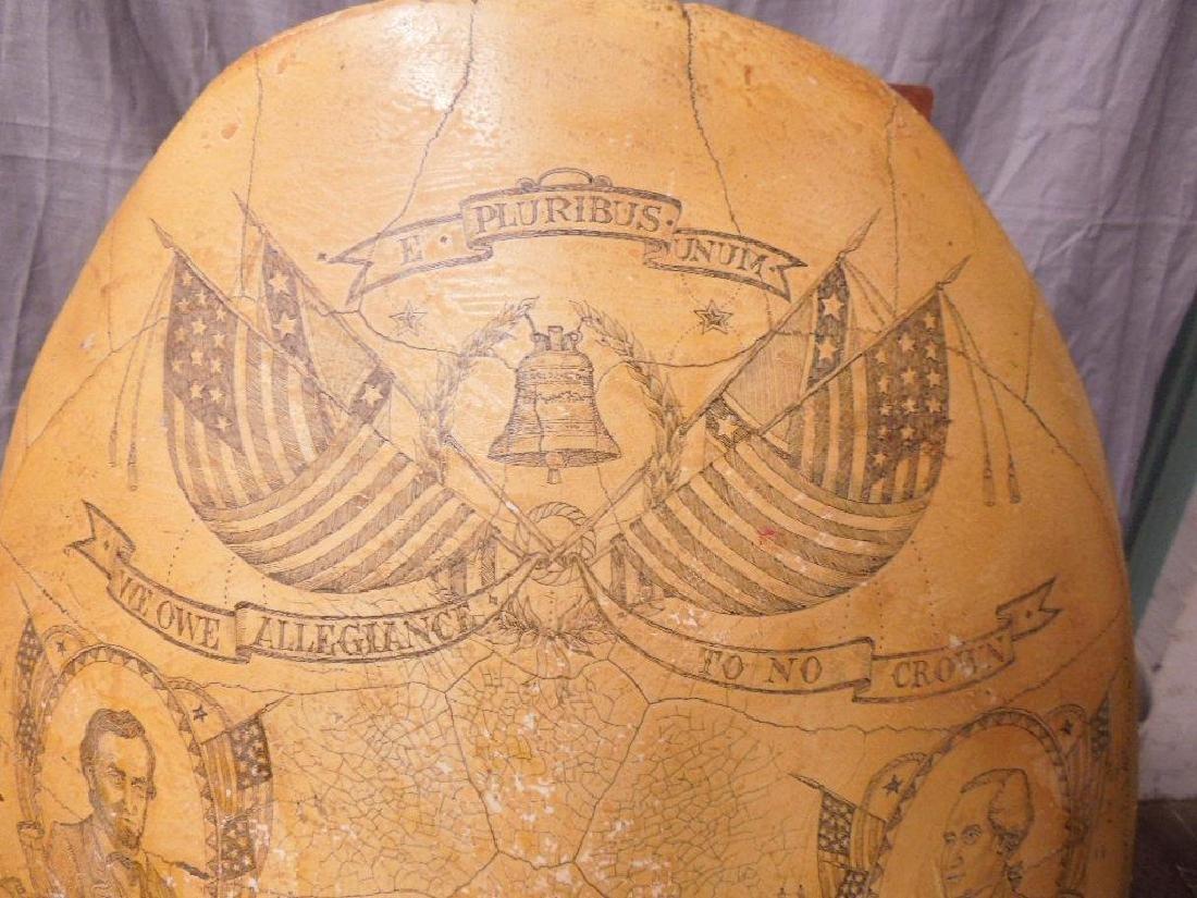 American Style Scrimshaw Composite Tortoise Shell - 2
