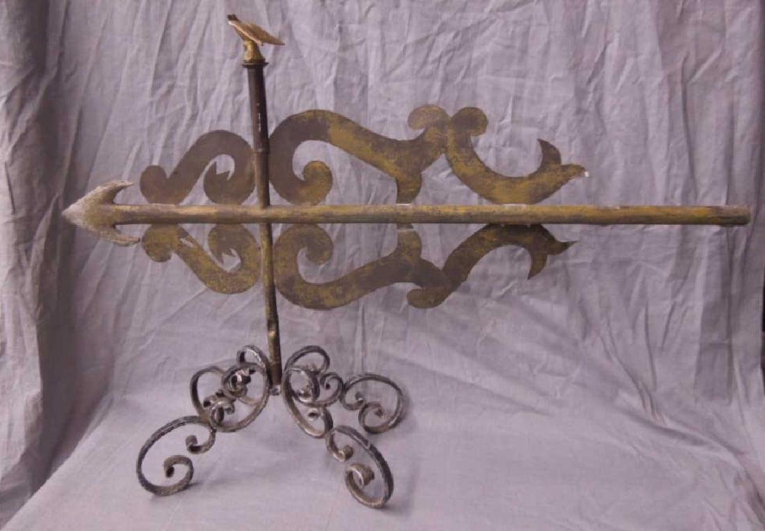 Antique Scrolled Arrow Weathervane
