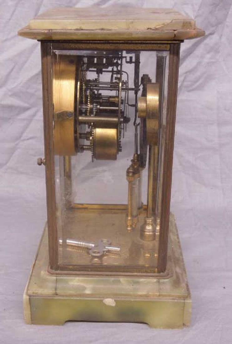 Ansonia Crystal Regulator Clock - 4
