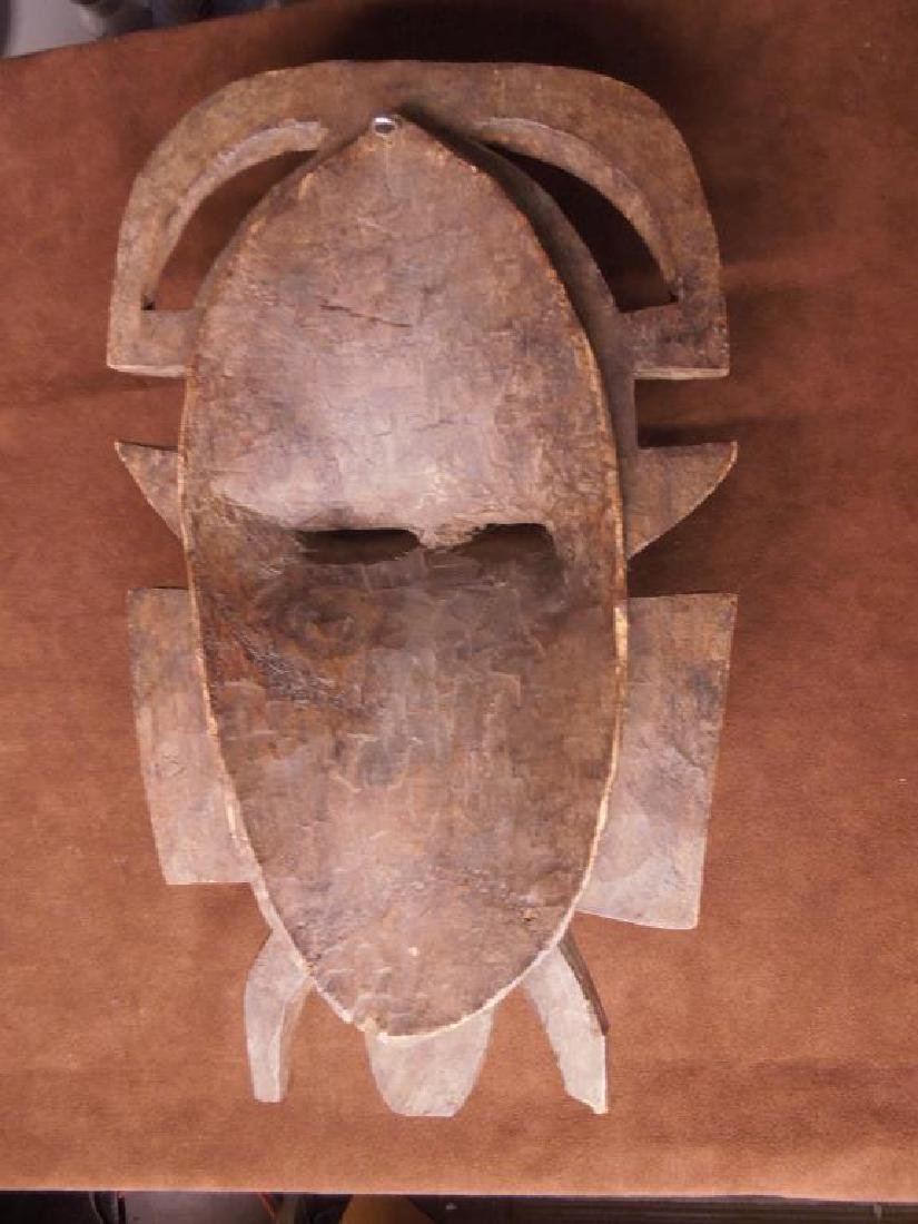 African Wood Carved Mask - 5