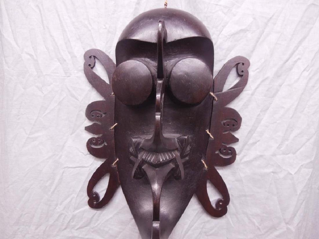 African Wood Carved Mask - 2