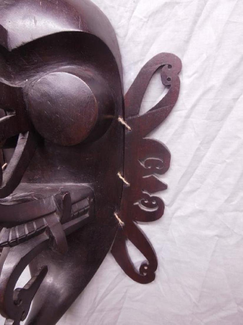 African Wood Carved Mask - 3