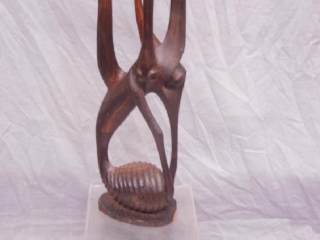 Indian Carved Wood Abstract Figure - 2