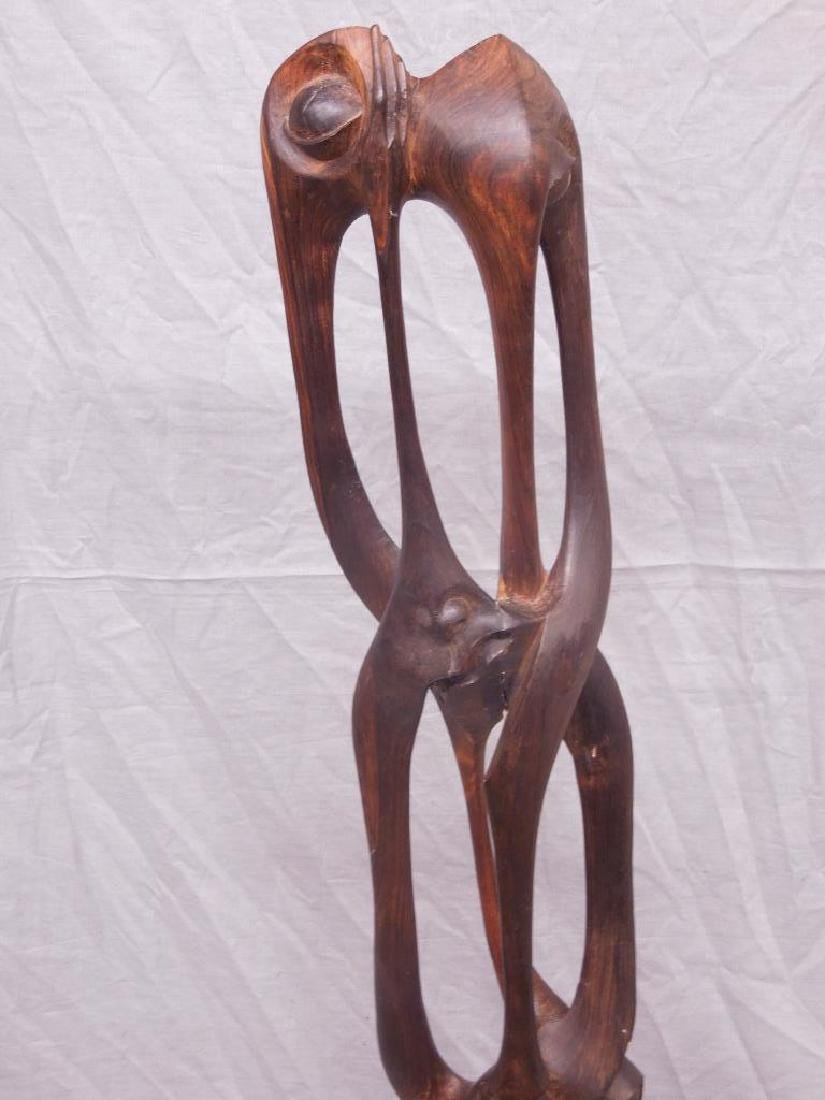 Indian Carved Wood Abstract Figure - 3