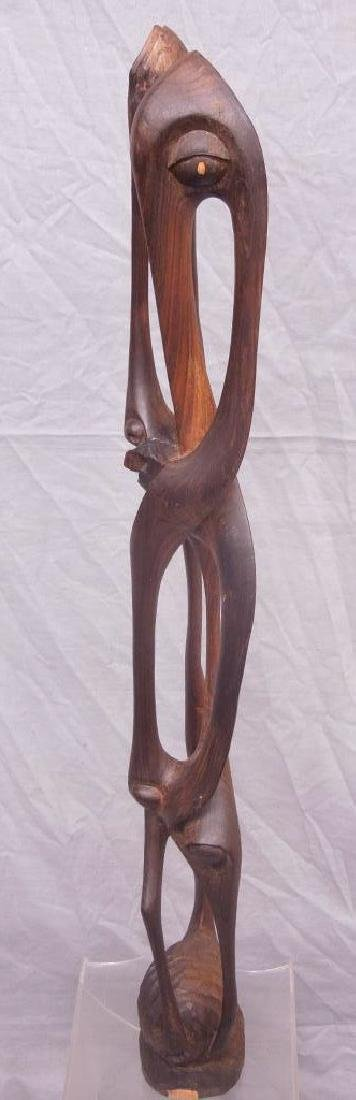 Indian Carved Wood Abstract Figure - 4
