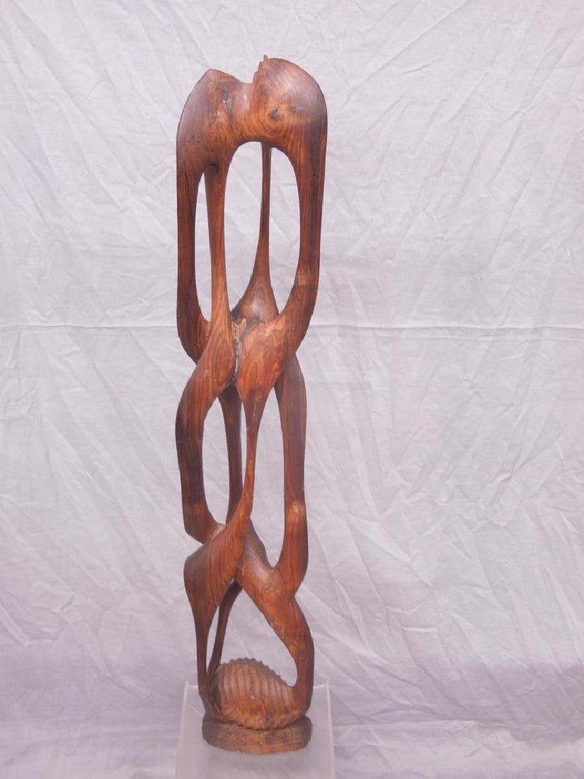 Indian Carved Wood Abstract Figure - 7