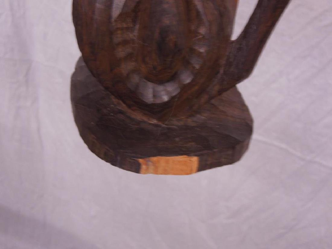 Indian Carved Wood Abstract Figure - 8