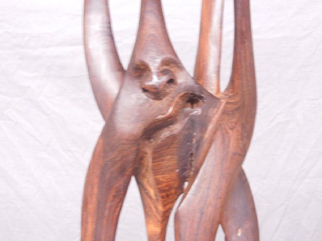 Indian Carved Wood Abstract Figure - 9