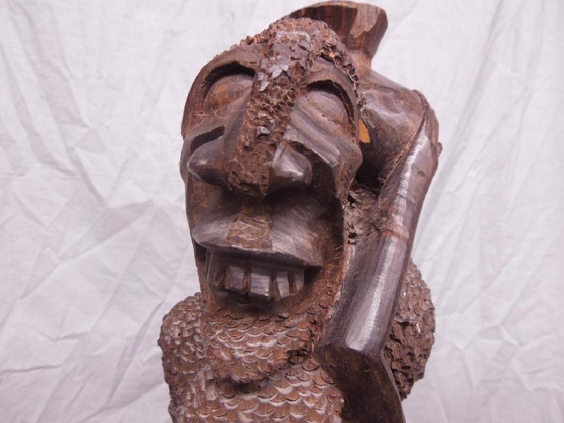 African Family Wood Carving - 8