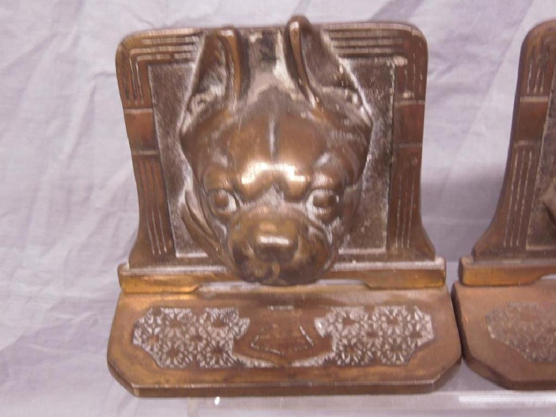 Pr of Bull Dog Bookends - 2