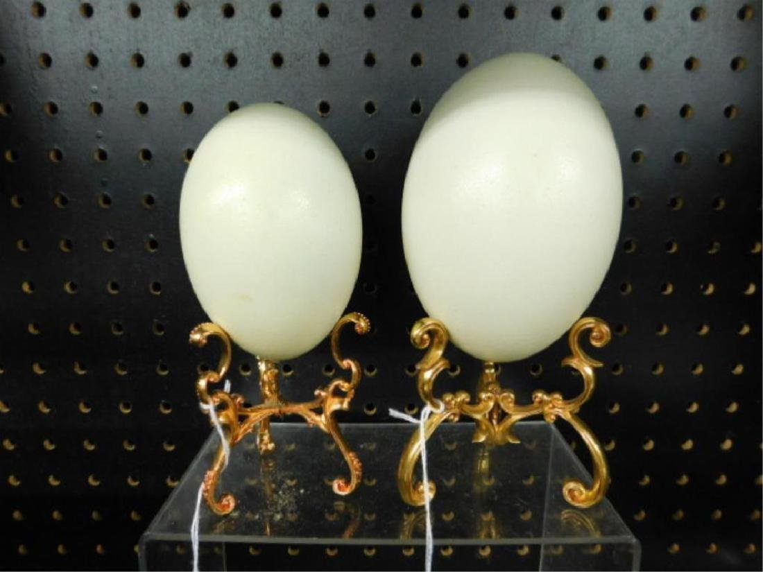 Ostrich Eggs on Stands