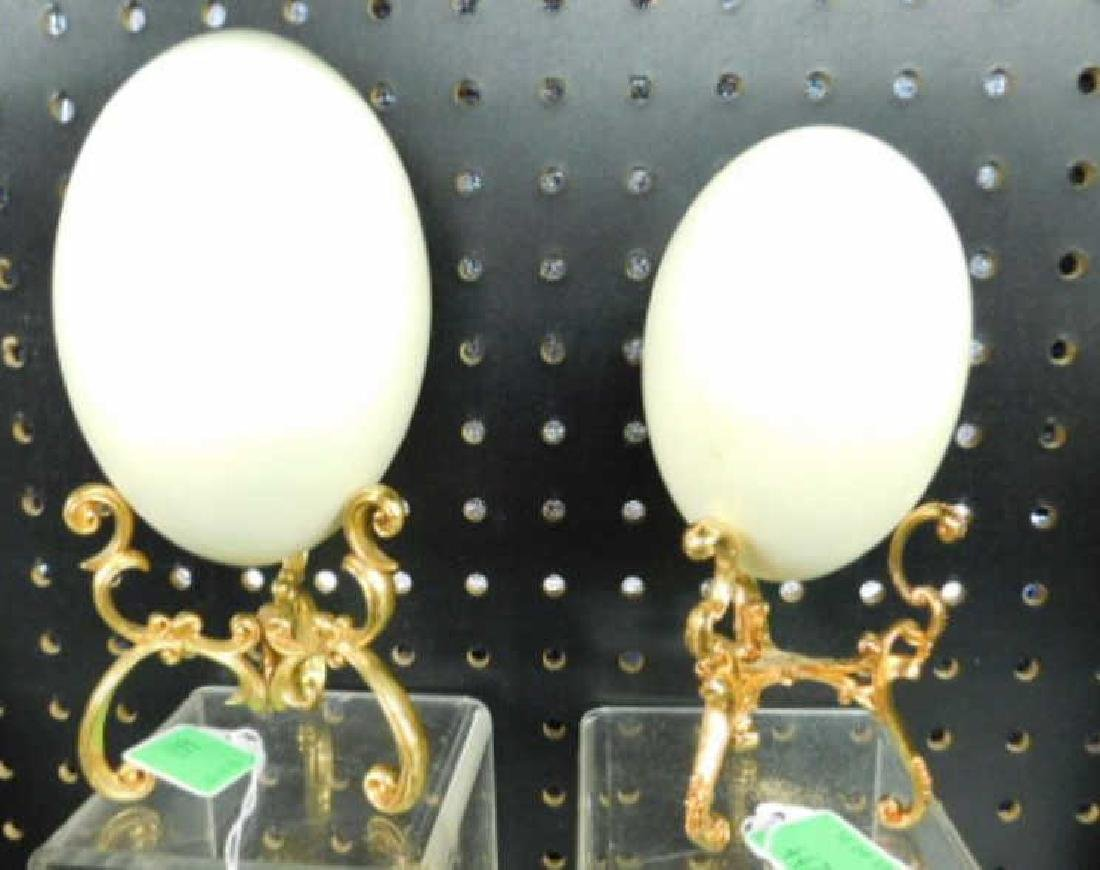 Ostrich Eggs on Stands - 2