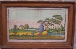 19th Beaded Needlepoint Panel