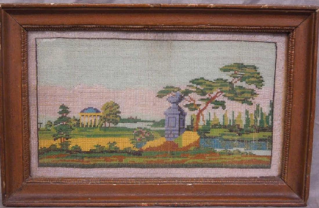 19th Beaded Needlepoint Panel