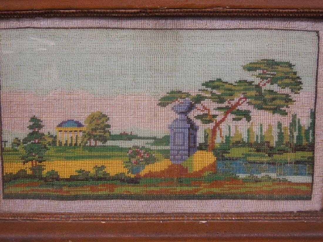 19th Beaded Needlepoint Panel - 2