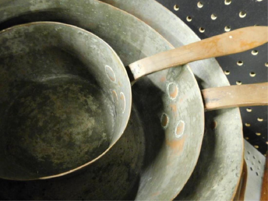 Antique Copper Cooking Pots - 3