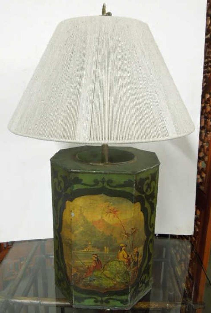 Toleware Coffee Canister / Lamp