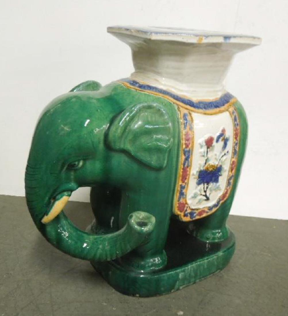 Chinese Porcelain Elephant form Garden Stool