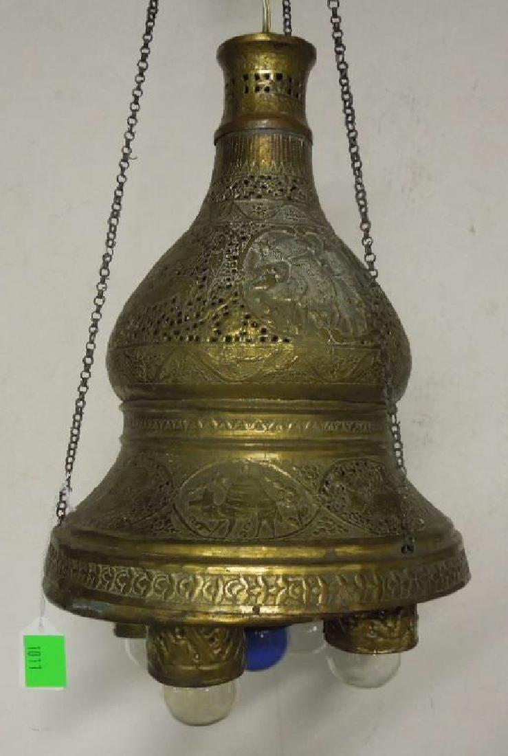 Indian Brass Chandelier