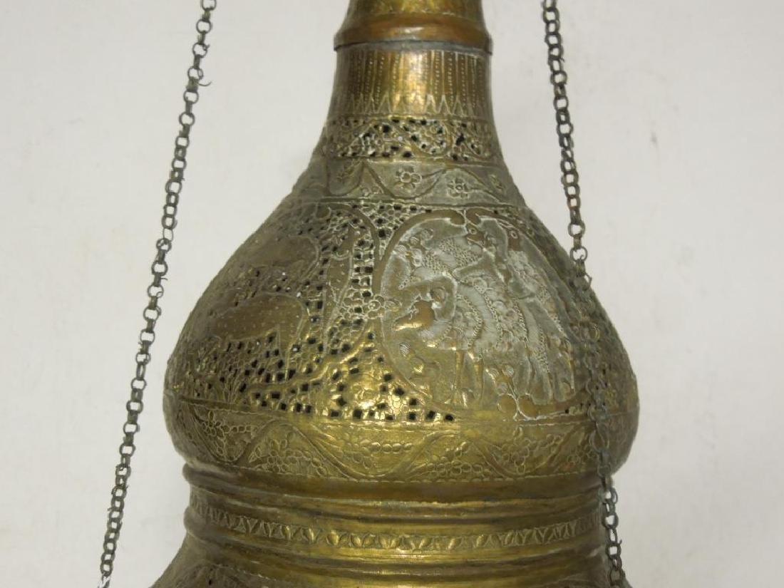 Indian Brass Chandelier - 2