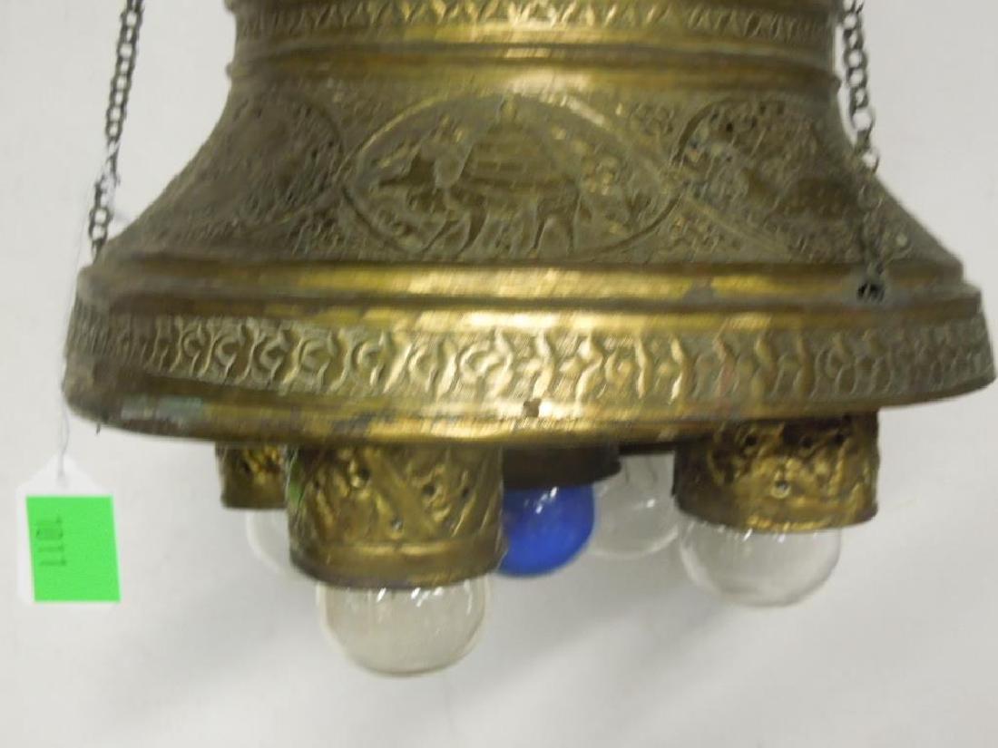Indian Brass Chandelier - 3