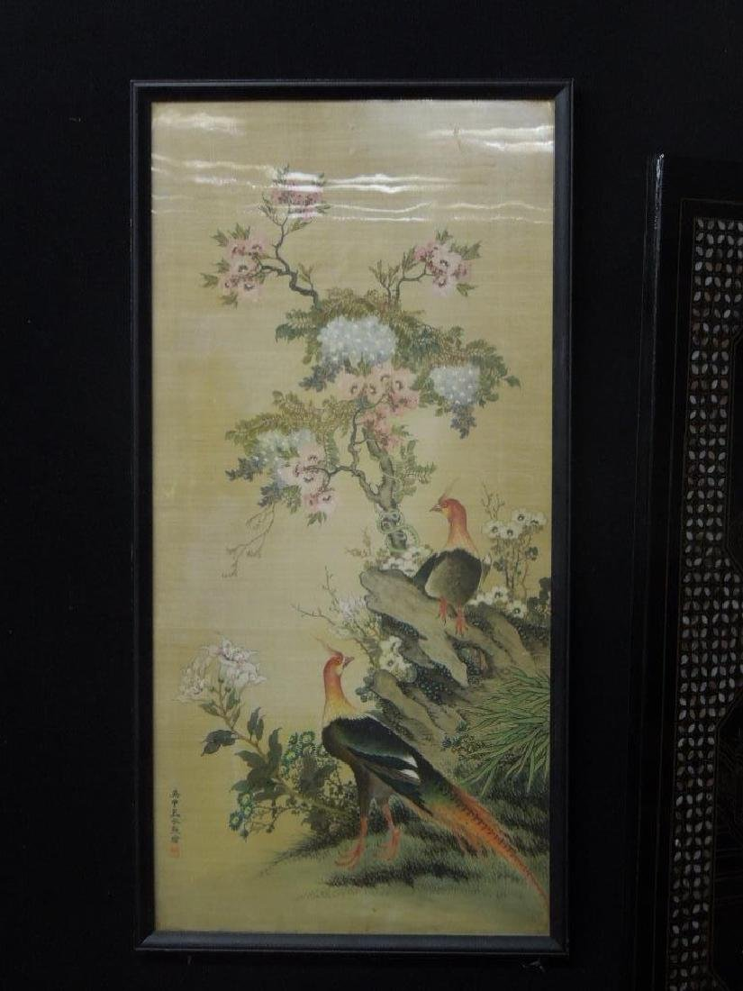 Japanese Watercolor on Silk Panel