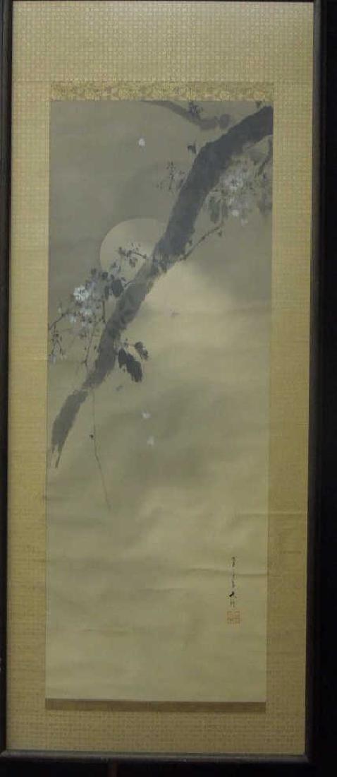 Japanese Watercolor on Silk Scroll