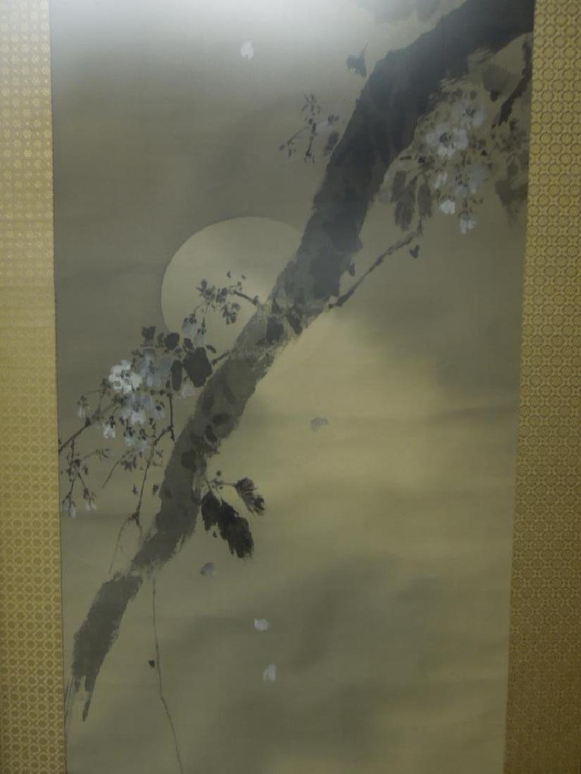 Japanese Watercolor on Silk Scroll - 4