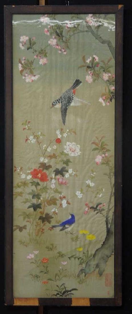 Vintage Japanese Painting on Silk